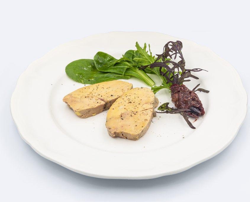 Foie gras de canard cuit au torchon, chutney de fruits sec au vinaigre de cidre de Rozavern